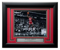 Michael Jordan Chicago Bulls 11x14 Custom Framed Photo Display at PristineAuction.com