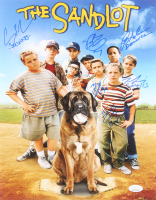 """The Sandlot"" 11x14 Photo Cast-Signed by (6) with Tom Guiry, Marty York, Shane Obedzinski, Victor DiMattia, Chauncey Leopard, & Brandon Adams with Character Inscriptions (JSA Hologram) at PristineAuction.com"