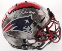 Josh Gordon Signed New England Patriots Full-Size Authentic On-Field Hydro Dipped F7 Helmet (JSA COA) at PristineAuction.com