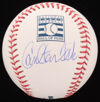Carlton Fisk Signed OML Hall Of Fame Baseball (JSA COA) at PristineAuction.com