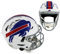 """Jim Kelly Signed Buffalo Bills Full-Size Authentic On-Field SpeedFlex Helmet Inscribed """"Lets Break Some Tables"""" (Radtke COA) at PristineAuction.com"""