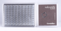 Lot of (100) 1 Gram Silver Valcambi Mint Bullion Bars (Uncut) Sealed in Assayer at PristineAuction.com