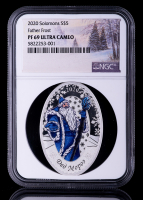 2020 Solomon Islands Father Frost Oval-Shaped 1 oz Silver $5 Coin (NGC PF69 UC) at PristineAuction.com