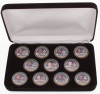 "Dallas Cowboys ""Farewell to Texas Stadium"" Limited Edition Set of (11) 24K Gold Plated & Colorized Texas Quarters with Tony Romo, Jason Witten, Terrell Owens at PristineAuction.com"