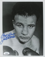 "Jake LaMotta Signed 8x10 Photo Inscribed ""Raging Bull"" (JSA COA) at PristineAuction.com"