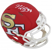 Nick Bosa Signed San Francisco 49ers AMP Alternate Speed Mini Helmet (Beckett COA) at PristineAuction.com