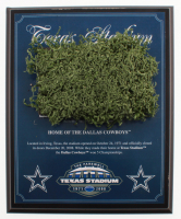 "Dallas Cowboys Texas Stadium ""The Farewell"" Final Season 8x10 Plaque with Game-Used Turf (Steiner COA) at PristineAuction.com"