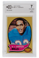 1970 Topps #90 O.J. Simpson RC (BCCG 7) at PristineAuction.com