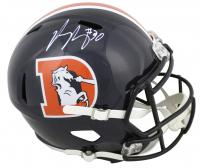 Phillip Lindsay Signed Broncos Color Rush Full-Size Speed Helmet (JSA COA) at PristineAuction.com