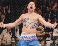 "Chuck Liddell Signed UFC 11x14 Photo Inscribed ""The Iceman"" (PSA Hologram) at PristineAuction.com"