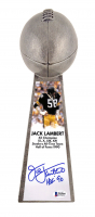 "Jack Lambert Signed Steelers 15"" Lombardi Football Championship Trophy Inscribed ""HOF 90"" (Beckett COA) at PristineAuction.com"