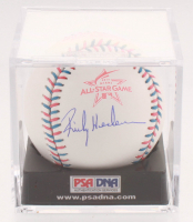 Rickey Henderson Signed 2017 All-Star Game Baseball with Display Case (PSA COA - Graded 10) at PristineAuction.com