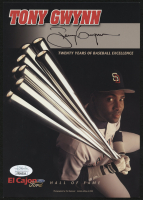 Tony Gwynn Signed San Diego Padres 6x8.5 Photo Card (JSA COA) at PristineAuction.com