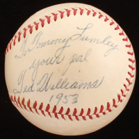"""Ted Williams Signed OAL Baseball Inscribed """"Your Pal"""" & """"1953"""" (JSA LOA) at PristineAuction.com"""