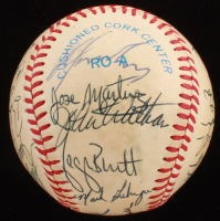 1984 Kansas City Royals OAL Baseball Signed by (27) With George Brett, Dan Quisenberry, Hal McRae, Frank White, Willie Wilson (SGC LOA) at PristineAuction.com