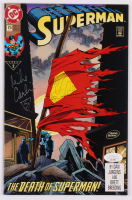 "Brett Breeding & Mike Carlin Signed 1993 ""Superman"" Issue #75 DC Comic Book (JSA COA) at PristineAuction.com"
