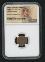 Certified Roman Coin of Emperor Valens AD 364-378 AE3 (Nummus) - Roman Christian Era (NGC Encapsulated) at PristineAuction.com
