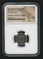 Certified Roman Coin of Emperor Diocletian AD 284-305 BI Aurelianianus - Historic Coinage Reform (NGC Encapsulated) at PristineAuction.com