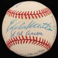 500 Home Run Club ONL Baseball Signed by (11) With Ted Williams, Mickey Mantle, Eddie Mathews, Reggie Jackson, Frank Robinson (JSA LOA) at PristineAuction.com
