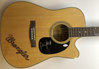George Strait Signed Wrangler Coply Full-Size Acoustic Guitar (JSA LOA) at PristineAuction.com