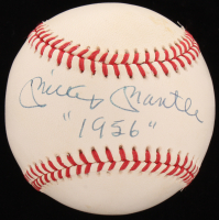 """Mickey Mantle Signed OAL Baseball Inscribed """"""""1956"""""""" (JSA LOA) at PristineAuction.com"""