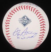 "Stephen Strasburg Signed 2019 World Series Baseball Inscribed ""19 WS MVP"" (MLB Hologram) at PristineAuction.com"