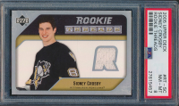 2005-06 Upper Deck Rookie Threads #RTSC Sidney Crosby (PSA 8) at PristineAuction.com