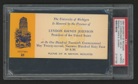 Lyndon B. Johnson 1964 University of Michigan 120th Commencement Ticket (PSA Authentic) at PristineAuction.com