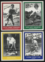 "Lot of (4) Signed All-American Girls Professional Baseball League Baseball Cards with Dorothy ""Kammie"" Kamenshek, Marge Wenzell, Alice ""Lefty"" Hohlmayer & Lavone ""Pepper Paire"" (JSA ALOA) at PristineAuction.com"