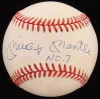 "Mickey Mantle Signed OAL Baseball Inscribed ""No. 7"" (JSA LOA) at PristineAuction.com"