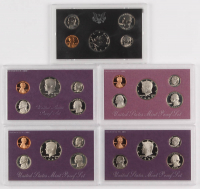 Lot of (5) United States Mint Proof Sets with 1971-S, 1984-S, 1988-S, 1989-S, & 1992-S at PristineAuction.com