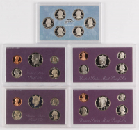 Lot of (5) United States Mint Proof Sets with 1986-S, 1987-S, 1991-S, 1993-S, & 2009-S at PristineAuction.com
