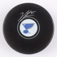 Jordan Binnington Signed St. Louis Blues Logo Hockey Puck (Beckett Hologram) at PristineAuction.com
