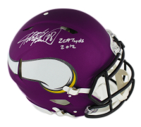"Adrian Peterson Signed Minnesota Vikings Full-Size Authentic On-Field Speed Helmet Inscribed ""2,097 Yards 2012"" (Radtke COA) at PristineAuction.com"