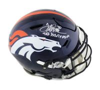 "Terrell Davis Signed Denver Broncos Full-Size Authentic On-Field SpeedFlex Helmet Inscribed ""SB XXXII MVP"" (Radtke COA) at PristineAuction.com"