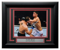 Nate Diaz Signed UFC 11x14 Custom Framed Photo Display (Beckett COA) at PristineAuction.com