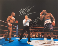 Mike Tyson & Evander Holyfield Signed 16x20 Photo (JSA COA) at PristineAuction.com