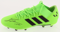 """Lionel Messi Signed Adidas Soccer Cleat Inscribed """"Leo"""" (Beckett COA) at PristineAuction.com"""