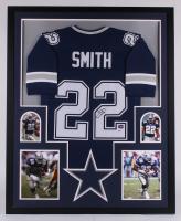 Emmitt Smith Signed Dallas Cowboys 34x42 Custom Framed Jersey Display (Beckett COA & Prova COA) at PristineAuction.com