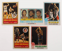 Lot of (43) 1973-74 Topps Basketball Cards with #100 Jerry West AS1, #153 Nate Archibald/Kareem Abdul-Jabbar/Spencer Haywood, #70 Oscar Robertson, #130 Pete Maravich AS1, Topps #90 Rick Barry at PristineAuction.com