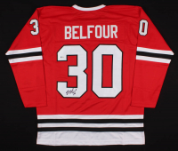 Ed Belfour Signed Jersey (Beckett COA) at PristineAuction.com