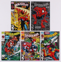 "Lot of (5) 1990 ""Spider-Man"" #1-5 Marvel Comic Books at PristineAuction.com"