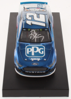Ryan Blaney Signed NASCAR #12 PPG 2019 Mustang - Color Chrome - 1:24 Premium Action Diecast Car (PA COA) at PristineAuction.com