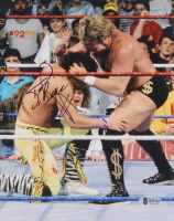 """Ted DiBiase Signed WWE 8x10 Photo Inscribed """"$"""" (Beckett COA) at PristineAuction.com"""