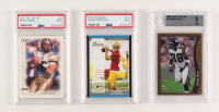 Lot of (3) Graded Football Cards with 1998 Topps Chrome #35 Randy Moss (BGS 9), 2005 Bowman #112 Aaron Rodgers (PSA 9), & 2001 SAGE HIT #15 Drew Brees (PSA 9) at PristineAuction.com