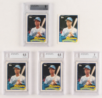 Lot of (5) 1989 Topps Traded #41T Ken Griffey Jr. Baseball Cards with (1) Raw Card & (4) BGS Graded at PristineAuction.com