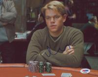 "Matt Damon Signed ""Rounders"" 8x10 Photo (PSA COA) at PristineAuction.com"