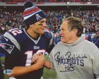"""Bill Belichick Signed New England Patriots 8x10 Photo Inscribed """"Pats"""" (Beckett COA) at PristineAuction.com"""