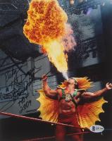 """Ricky """"The Dragon"""" Steamboat Signed WWE 8x10 Photo Inscribed """"HOF 2009"""" (Beckett COA) at PristineAuction.com"""