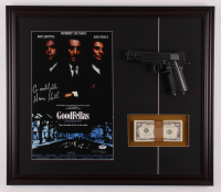 """Henry Hill Signed LE """"Goodfellas"""" 23x26.5 Custom Framed Photo Display with Replica Gun & Prop Money Inscribed """"Goodfella"""" (PSA COA) at PristineAuction.com"""